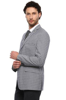 Mens Notched Lapel Check Blazer