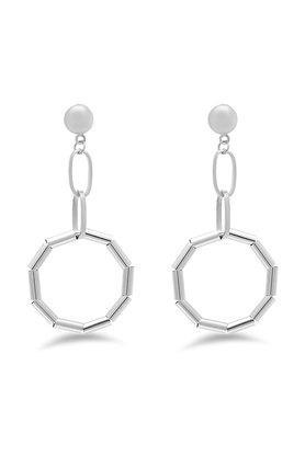 Womens Round Circle Drop Earrings