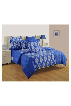 SWAYAMPrinted Double Bed Sheet, Comforter And Pillow Covers Set - 204584163_9308