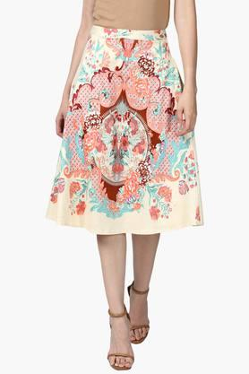 LABEL RITU KUMAR Womens Printed Skirt