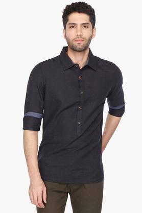 X WROGN Mens Printed Slim Fit Casual Shirt