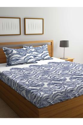 PORTICO Printed Double Bed Sheet With Pillow Cover - 203990091_9900