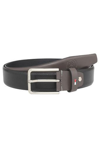 TOMMY HILFIGER Mens Leather Buckle Closure Casual Belt
