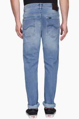 Mens Regular Fit Mild Wash Jeans (Macky Fit)