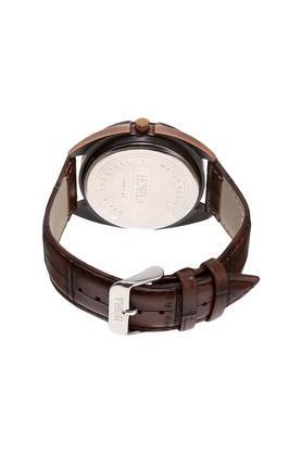 Mens Eco Series Black Brown Dial Analog Watch - HR717MLBKBR80