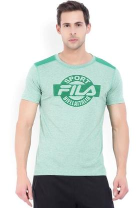 FILA Mens Round Neck Graphic Print T-Shirt