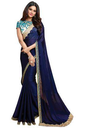 DEMARCAWomens Satin Designer Saree