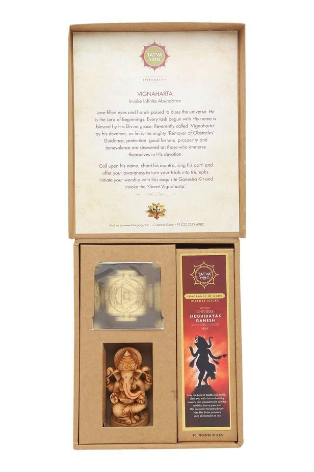 Premium Ganesha Incense Sticks Yantra and Idol Set