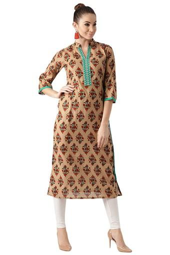 Womens Cotton Printed Aline Kurta