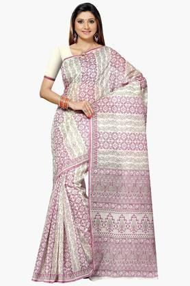 DEMARCA Womens Cotton Blend Printed Saree - 203229474