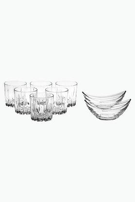 PASABACHE Round Sip And Chip Glasses And Bowls Set Of 8