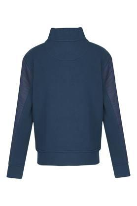 Boys Zip through Neck Graphic Print Sweatshirt