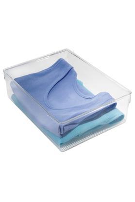 INTERDESIGNSquare Transparent Plastic Drawer Organizer