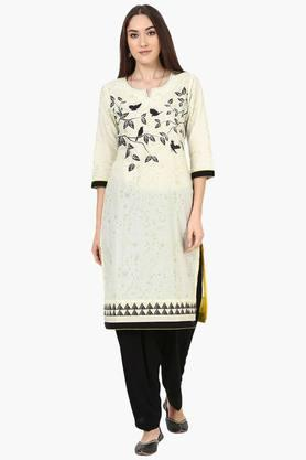 RANGRITI Womens Straight Cotton Kurta - 202256111