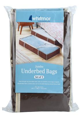 Rectangular Transparent Jumbo Underbed Bags Set of 2
