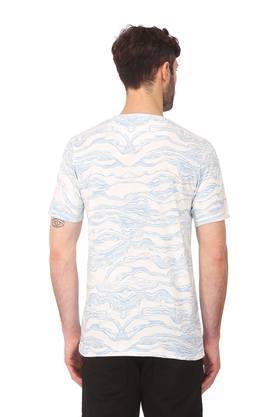Mens Regular Fit Round Neck Printed T-Shirt