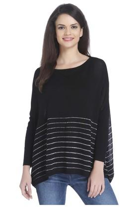 ONLY Womens Round Neck Striped Pullover - 202995406_8688