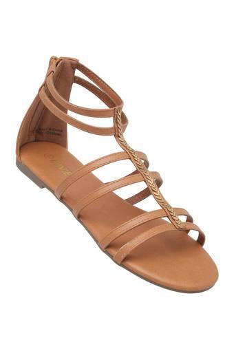 Womens Casual Zipper Closure Flats