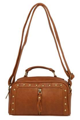 HAUTE CURRY Womens Zipper Closure Sling Bag