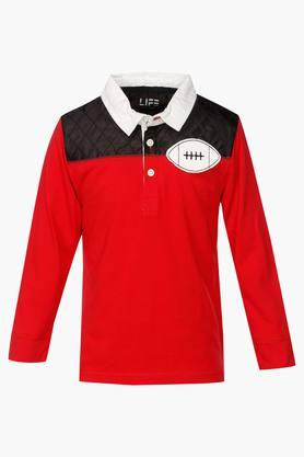 LIFE Boys Solid Polo T Shirt