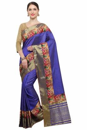 RACHNAWomens Chanderi Silk Digital Printed Saree With Blouse - 204088353_9308