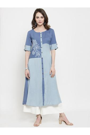 VARANGA -  BlueSalwar & Churidar Suits - Main