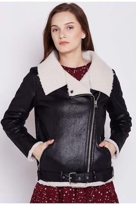 COVER STORYWomens Collared Solid Jacket