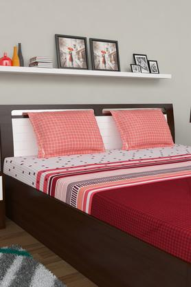 PORTICO Printed Double Bedsheet With 2 Pillow Covers - 203359122_9900