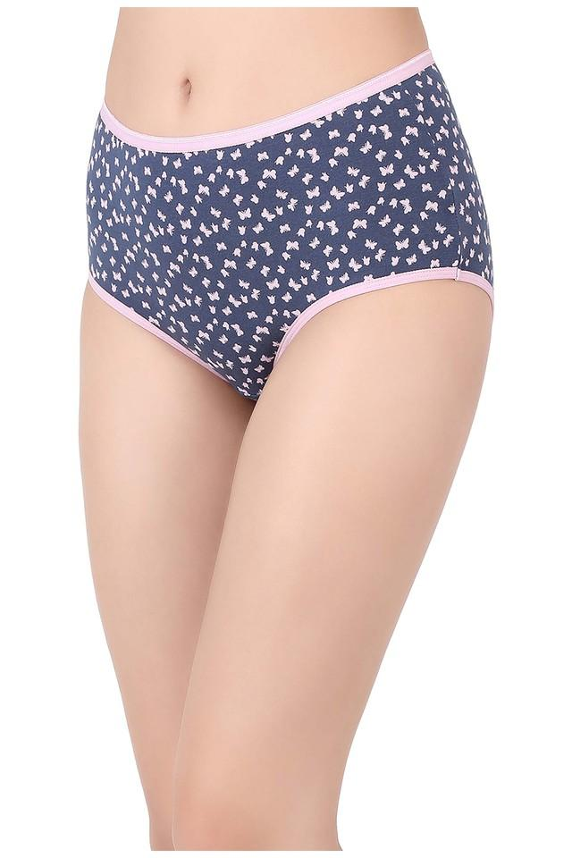 Womens High Waist Printed Hipster Briefs