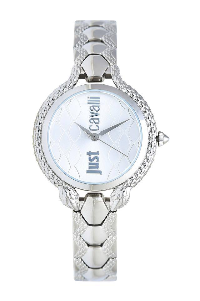 Womens White Dial Stainless Steel Analogue Watch - 1L046M0055