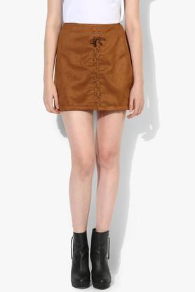 LOVE GENRATION Womens Solid Casual Skirt