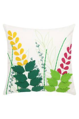 Square Embroidered Applique Cushion Cover