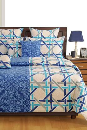 SWAYAMPrinted Double Bed Sheet With 2 Pillow Covers - 204274513_9308
