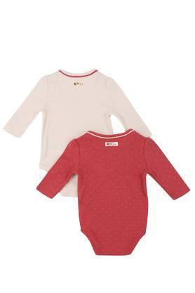 Kids Round Neck Printed Babysuit - Pack Of 2