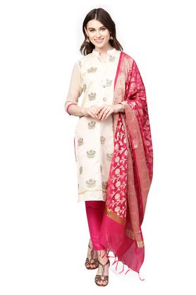 b311fde81ab X ISHIN Womens Solid Embroidered Unstitched Salwar Suit Dress Material with  Dupatta
