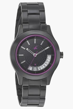 Fastrack Womens Black Dial Metal Strap Watch - 6165NM01 image