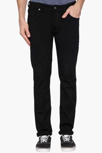 06c10fe1fe60 Buy BLACKBERRY'S URBAN Mens Slim Fit Coated Jeans   Shoppers Stop