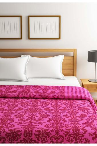 Pink and Magenta Motifs Double AC Comfortor