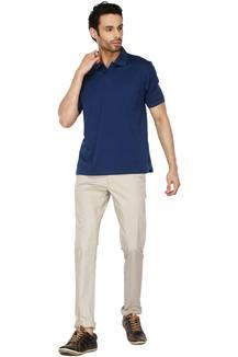 f977ad24 Buy COLOR PLUS Mens Solid Polo T-Shirt | Shoppers Stop