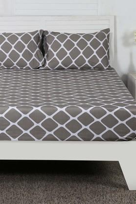Printed Double Bedsheet with 2 Pillow Covers