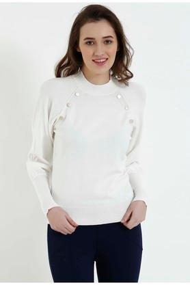 COVER STORY Womens High Neck Solid Pullover