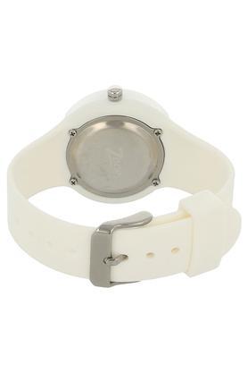 Girls White Dial Plastic Watch - NKC4038PP02
