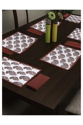 SWAYAMPrinted Place Mat And Napkin Set Of 4 - 204599977_9101