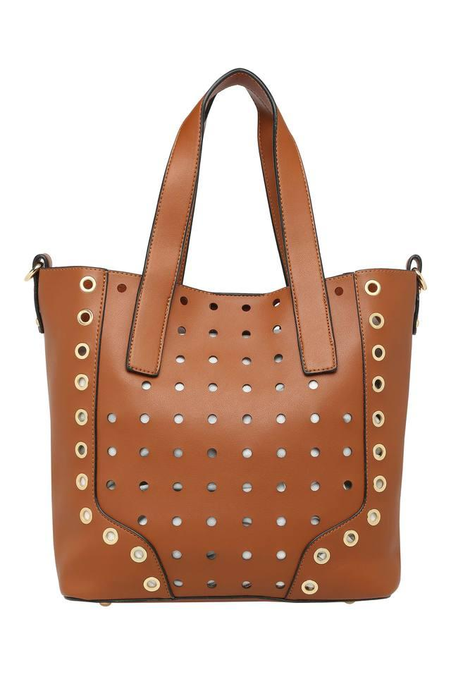 Womens Snap Closure Tote Handbag with Sling Bag