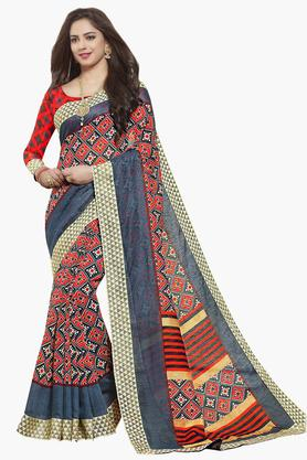 ISHINWomens Art Silk Printed Saree - 203495526_7086