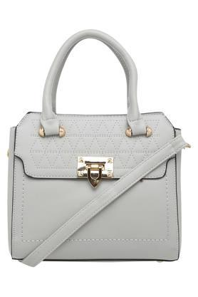 Womens Hook & Loop Closure Satchel Handbag