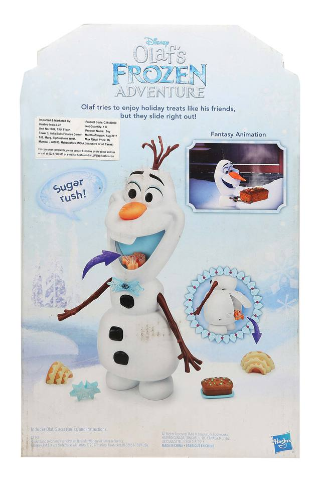 Unisex Talking and Snacking Olaf Toy