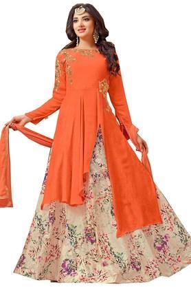 DEMARCAWomens Georgette Dress Material - 203984176_9508