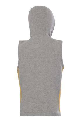 Boys Hooded Neck Slub T-Shirt