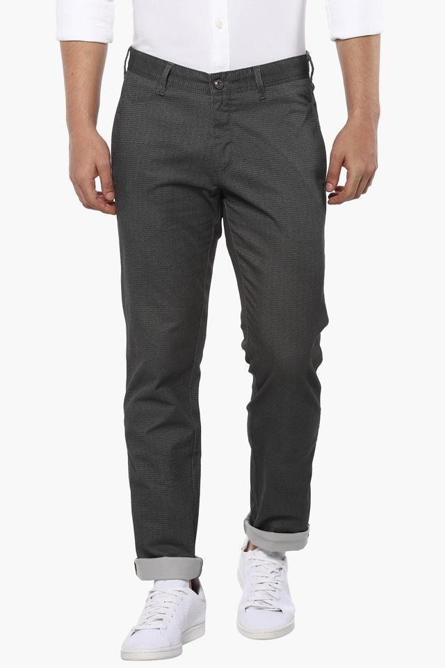 Mens 4 Pocket Slub Trousers